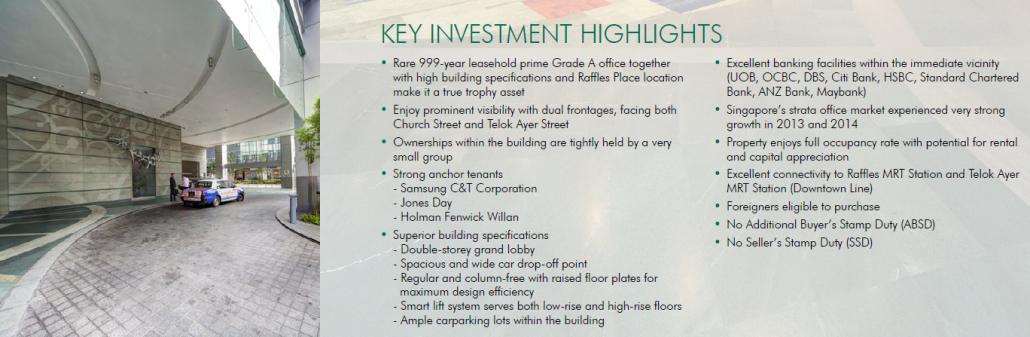 Samsung hub office for sale key investment highlights